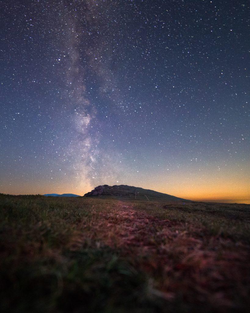 Mliečna dráha nad Kráľovou holou